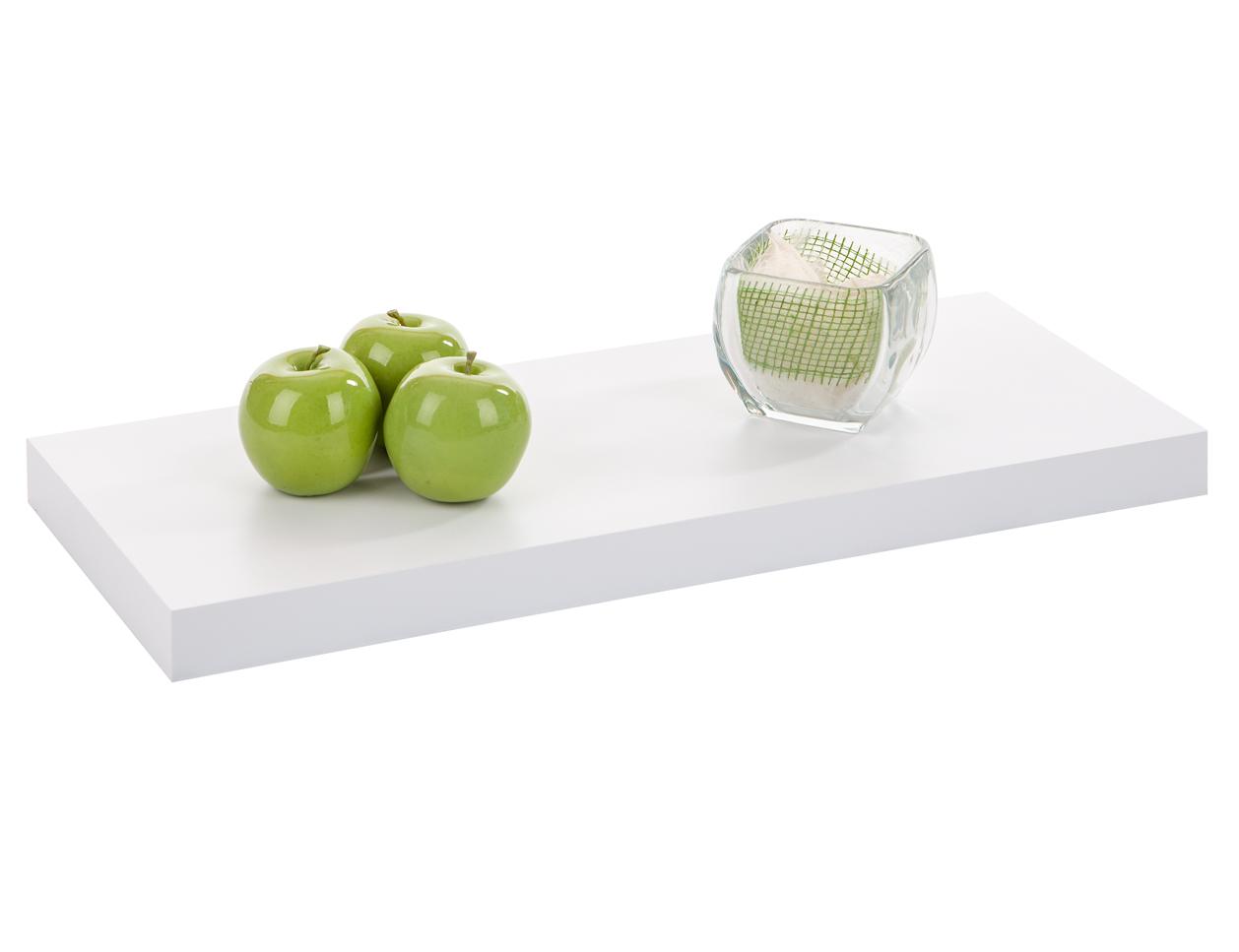 Plank Met Onzichtbare Bevestiging.Wandtablet Wit Galico